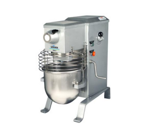 Univex SRM12 1151 12 Qt Planetary Mixer w/ SS Bowl, Beater, Wire Whip, Safety Guard