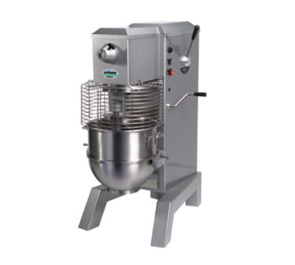 Univex SRM60H+ 2081 60 Qt Planetary Mixer w/ Safety Guard, SS Bowl, Dough Hook