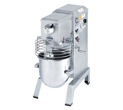 Univex SRM12 115ELW 12-qt Countertop Food Mixer, Stainless Bowl, 115/1 V, White