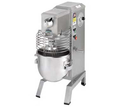 Univex SRM20 2203ELG 20-qt Capacity Mixer Wire Whip & Dough Hook Export 220 V Green Restaurant Supply