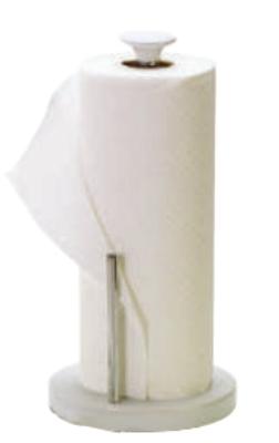 Anchor 03231WHT Towel Holder w/ Chrome Pole, Ceramic, White