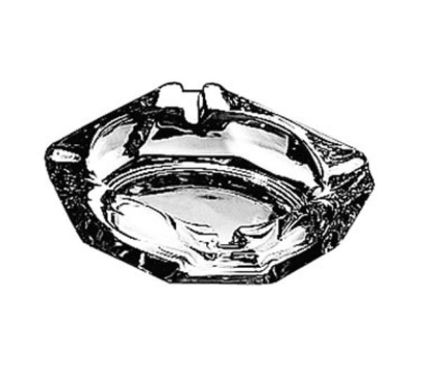 Anchor Hocking 143U Ash Tray 3-5/8in Square Glass Restaurant Supply