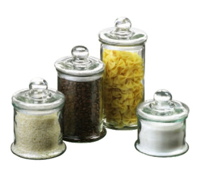 Anchor 27476 4-Piece Round Canister Set w/ Ball Lids, Glas