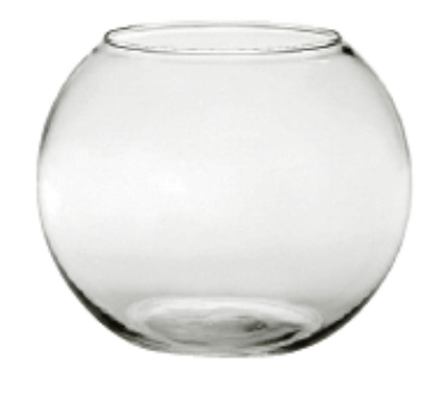 Anchor 30320 5.5-in Rose Bowl, Crystal