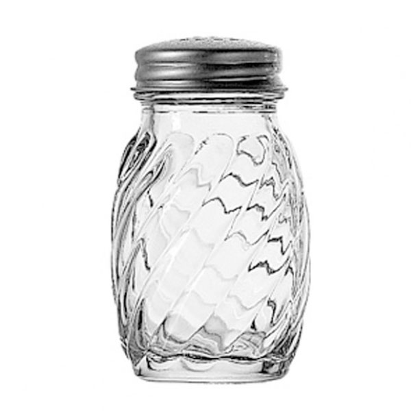Anchor 39122 3 in Swirl Salt and Pepper Shaker, Crystal