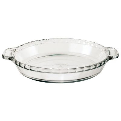 Anchor 81214L11 9.5-in Deep Pie Plate, Clear