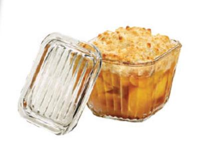 Anchor 81884L9 2 cup Bake-N-Store Dish With Glass Lid, Crystal, 6 Pack