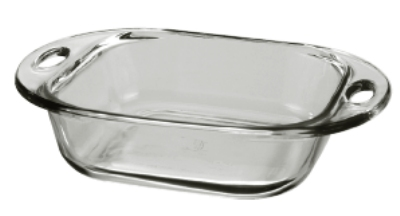 Anchor 81993L9 8-in Square Sculpted Cake Dish, Crystal
