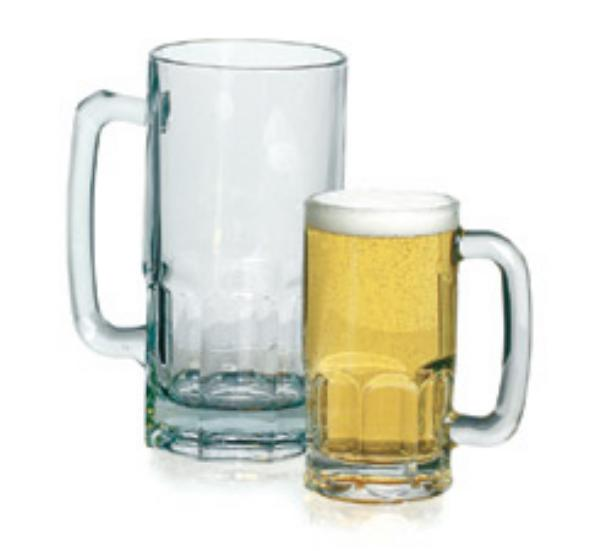 Anchor 83102 1-Liter Beer Wagon Gusto Mug, Clear