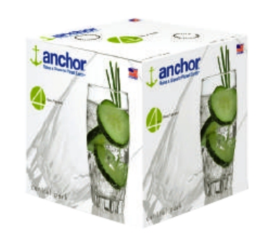 Anchor 84603L8 16-Large Central Park Tumblers w/ 17-oz Capacity, Cry