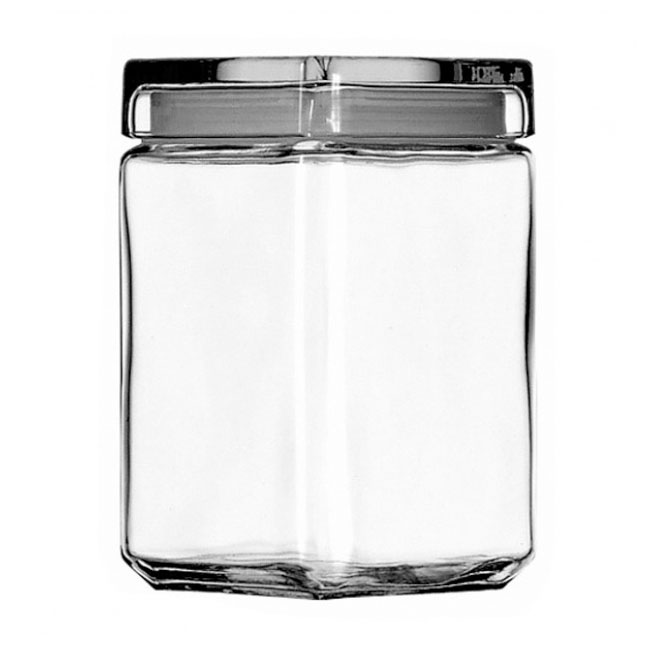 Anchor 85588R Stackable Square Storage Jar, 1-1