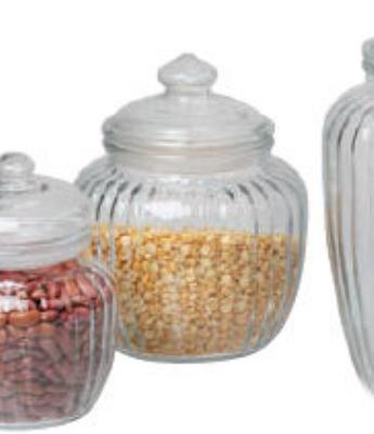Anchor 85801 40-oz Optic Jar w/ Glass Lid
