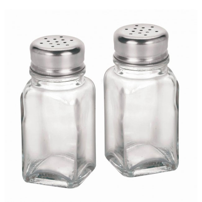 Anchor 90079 2-oz Salt & Pepper Shaker w/ Square Bottoms