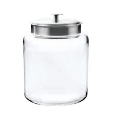 Anchor 91523 2-gal Montana Jar w/ Brushed Aluminum Metal Cover