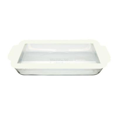 Anchor 91751TFW 3-qt Baking Dish w/ White Lid