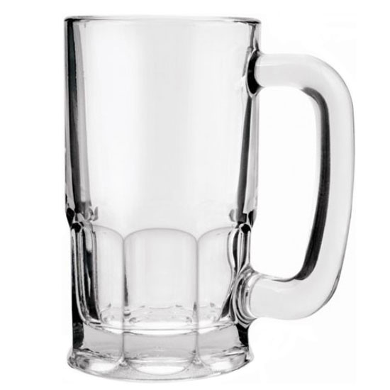Anchor 93001 20-oz Tall Beer Wagon Mug w/ Large Handle, Crystal
