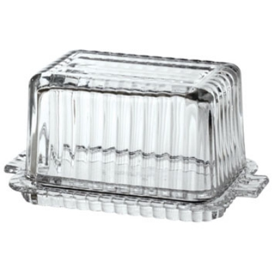 Anchor 94669 Fire King Butter Dish, Crystal