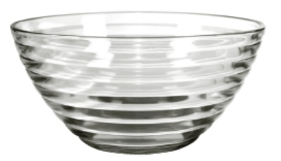 Anchor 94743W9 11-in Cameron Bowl, Crystal