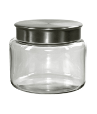 Anchor 95747 48-oz Mini Modern Montana Jar w/ Brushed Alum