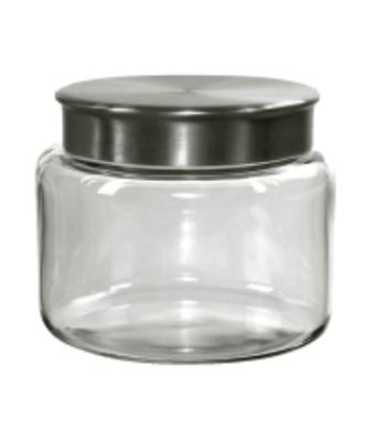 Anchor 95747 48-oz Mini Modern Montana Jar w/ Brushed Aluminum Met