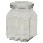 Anchor 95886 52-oz Emma Jar w/ Glass Cover, Clear
