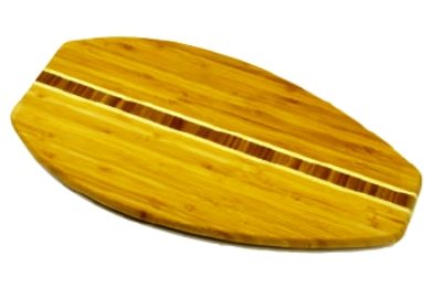 Anchor 98622 17.75x9-in Cutting Board w/ Surfboard Design, Bam