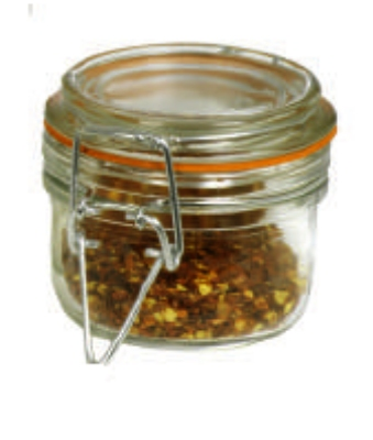Anchor 98908 4.25-oz Mini Heremes Jar w/ Clamp Top Lid, Crystal