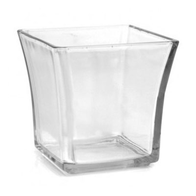 Anchor 99005 4 in Flared Square Votive, Glass