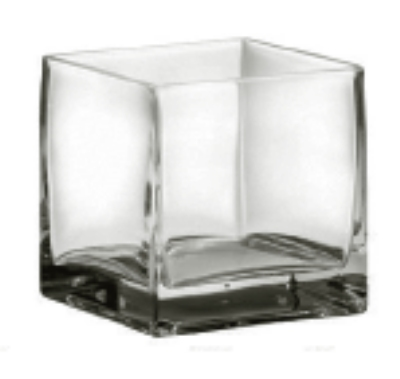 Anchor Hocking 99050RS 4 in Square Vase Glass Restaurant Supply