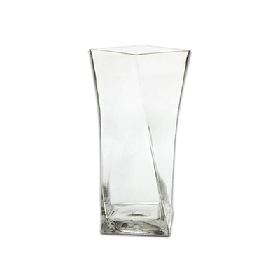 Anchor 99146 10-in Square Twisted Vase, Cr