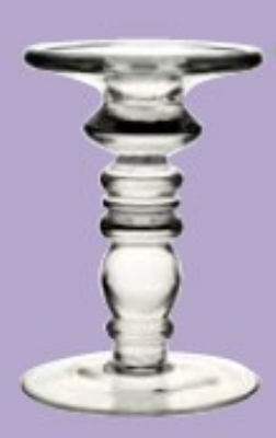 Anchor 99175 6-in Juliet Candle Holder, Glass, Clear