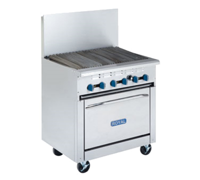 "Royal Range RR-24RB-XB 24"" Gas Range with Charbroiler, NG"
