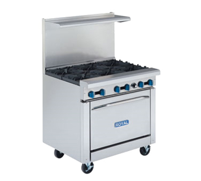 "Royal Range RR-2G24 36"" 2-Burner Gas Range with Griddle, NG"