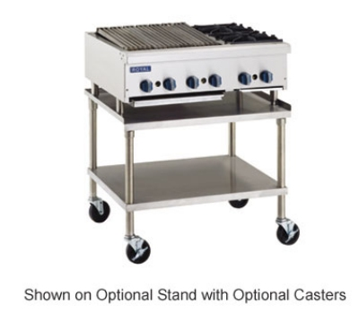 Royal Range RRB-30OB2 LP 42-in Broiler & Hotplate w/ 30-in Radiant Char Broiler & 2-Open Burner, LP