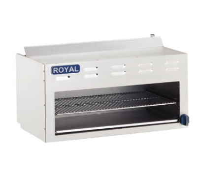 "Royal Range RCM-72 72"" Infrared Burner Gas Cheese Melter, LP"