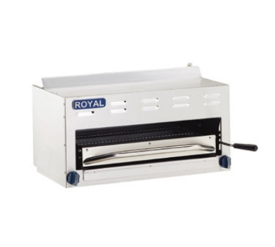 Royal Range RSB-48 LP 48-in Countertop Salamander Broiler w/ 2-Infrared Burners, LP