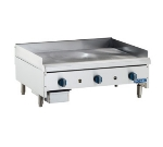 Royal Range RMG-36 NG 36-in Countertop Griddle w/ .75-in Plate & Manual Controls, NG