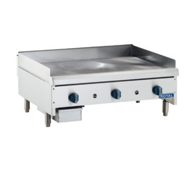 Royal Range RMG-72 LP 72-in Countertop Griddle w/ .75-in Plate & Manual Controls, LP