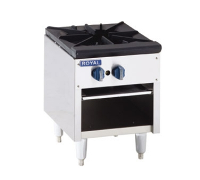 Royal Range RSP-18D-36 LP 18-in Double Stock Pot Range w/ Cabinet Base & 2-Burner, 36-in High, LP