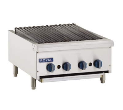 Royal Range RRB-24 NG 24-in Countertop Radiant Char Broiler w/ Manual Controls & Pilot, NG