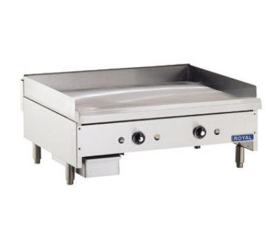 Royal Range RTG-72 NG 72-in Countertop Griddle w/ Thermostatic Control & 1-in Plate, NG