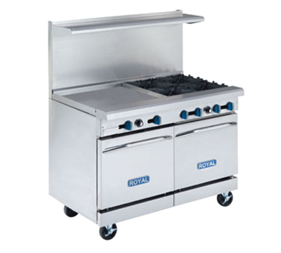 "Royal Range RR-G48 48"" Gas Range with Griddle, NG"