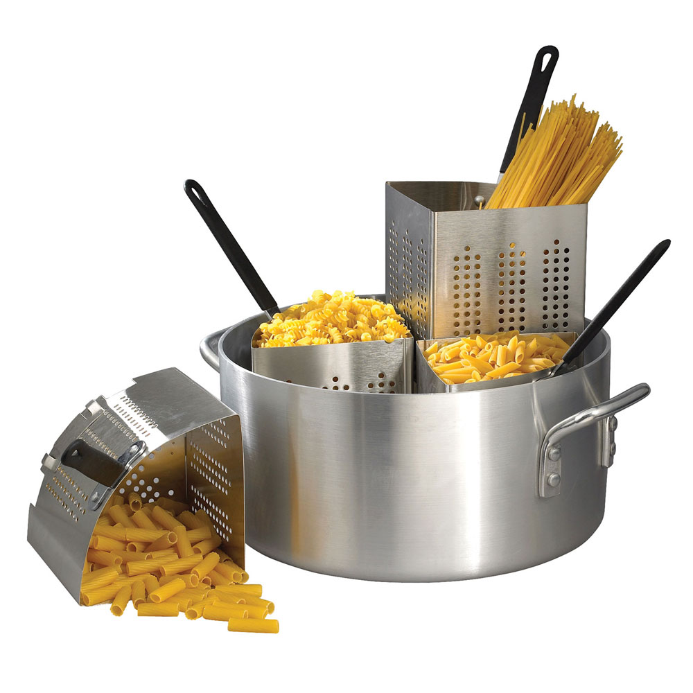 Winco APS-20 Win-Ware Pasta Cooker, 20 qt Pot, Includes (4) Insets, Aluminum