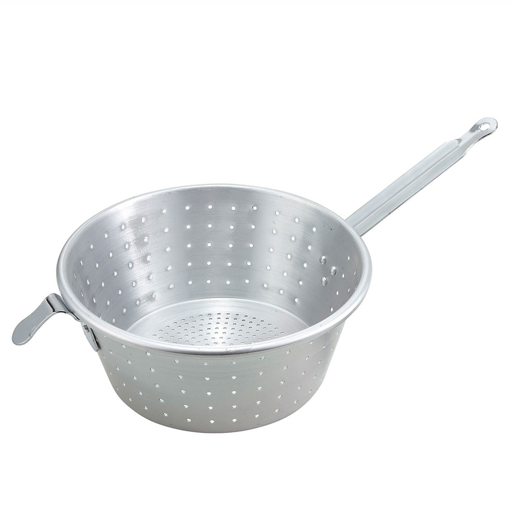 Winco ASS-10 Spagetti Strainer 10 in Aluminum Restaurant Supply