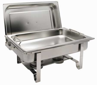 Winco C2080B 8-qt Oblong Get-A-Grip Chafing Dish w/ Mirror Finish, 18/8 Stainless