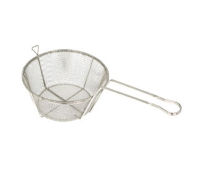 "Winco FBRS-8 8.5"" Round Fryer Basket, Nickle Plated"
