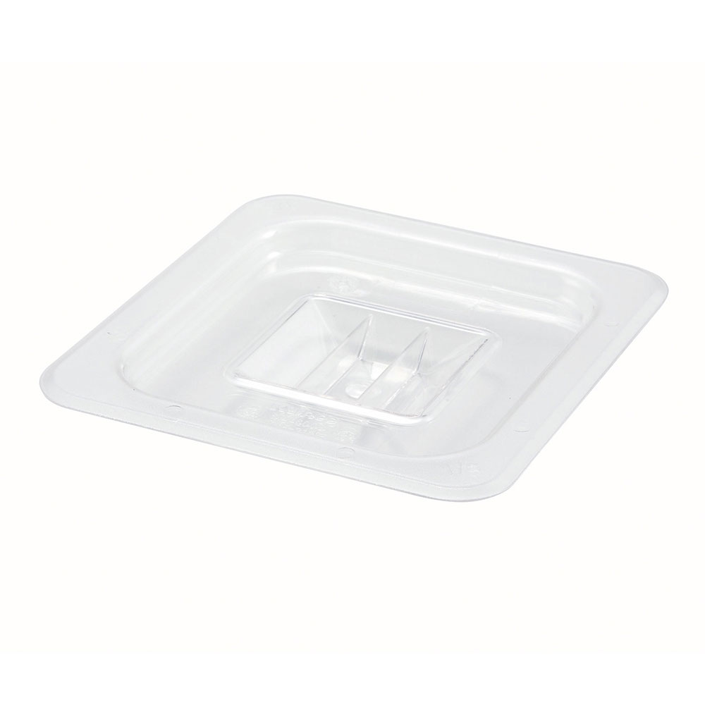 Winco SP7600S Poly-Ware Food Pan Cover, 1/6 Size, Solid, Polycarbonate, NSF