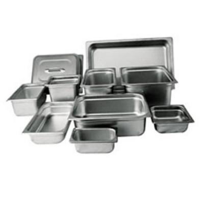 Winco SPJL-406 Steam Table Pan, Fourth Size, 6 in Deep, Standard Weight SS, Anti Jamming, NSF