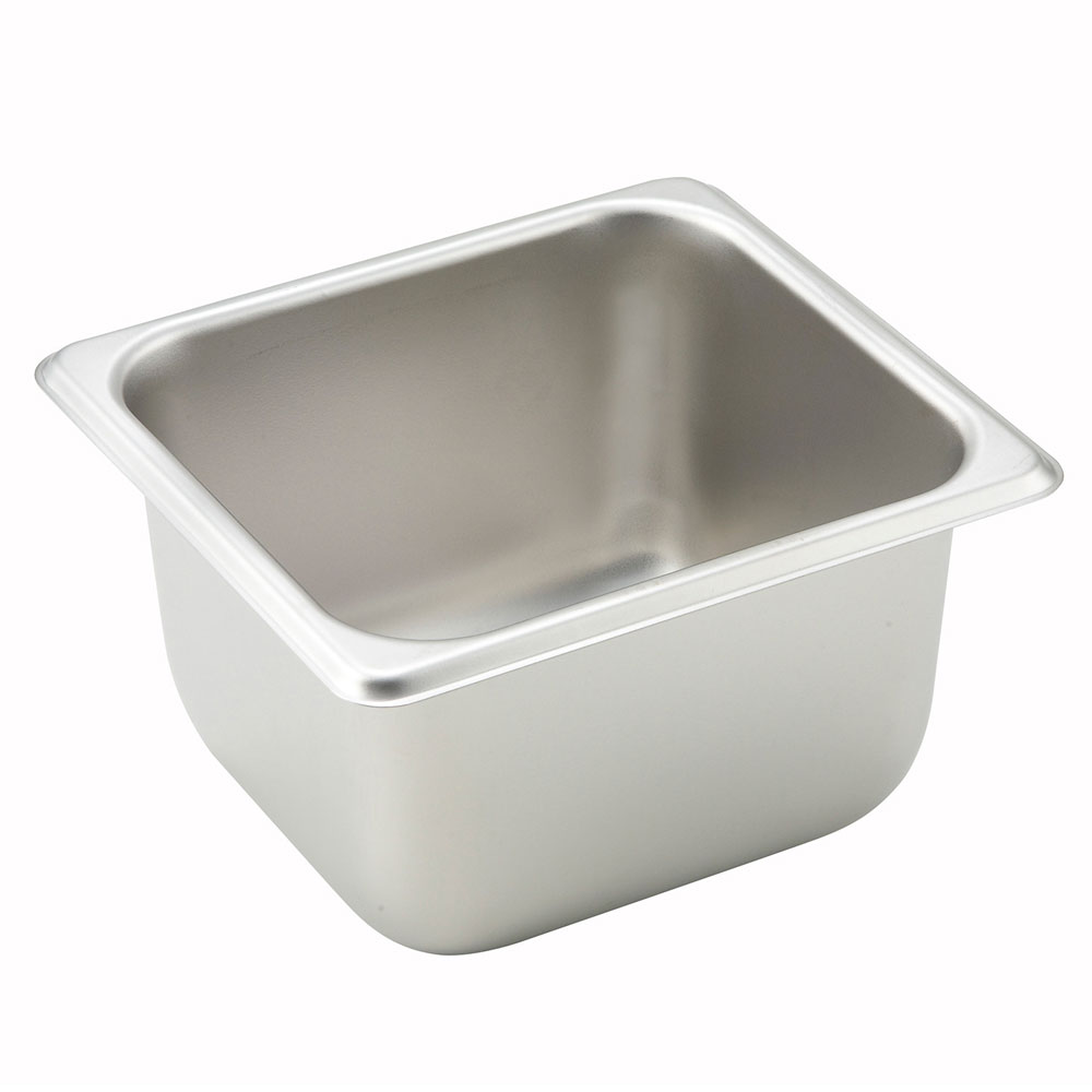 Winco SPS6 1/6-Size Steam Table Pan, 6-in Deep, Stainless