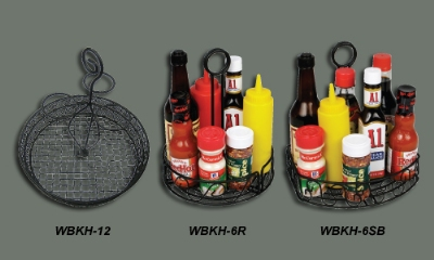 Winco WBKH-7R Condiment Caddy, 7.5 in D x 9 in H, Wire